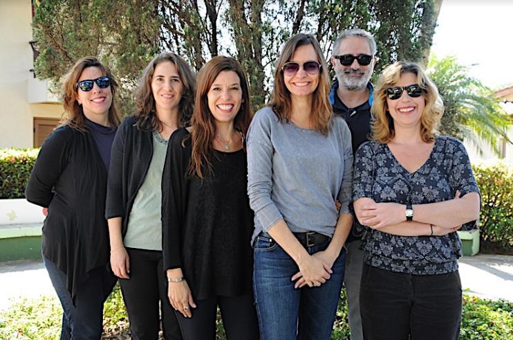 Equipe Histórias que Ficam – Erika Fromm, Adriana Schwarz, Renata Druck  e os consultores Karen Harley, Marcelo Gomes e Daniela Capelato.