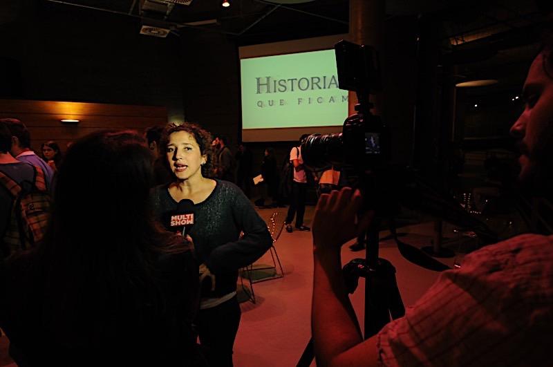 Carolina Benjamin em entrevista para o Multishow