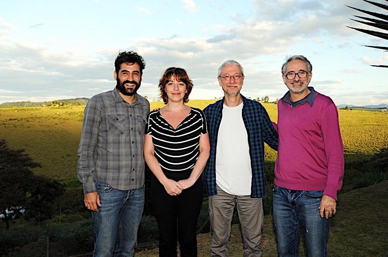 Os consultores do programa Flavio Botelho, Daniela Capelato, Miguel  Machalski e Marcelo Gomes