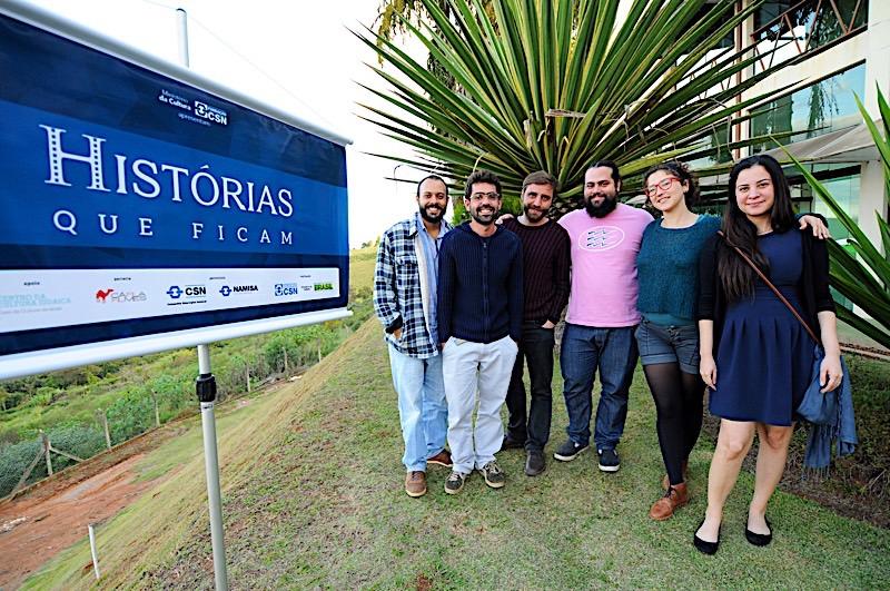 Os diretores Pedro Rocha, Bruno Xavier, Felippe Mussel, Chico Guarnieri, Carolina Benjamin e Priscilla Brasil
